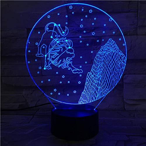 Constellation Leo Acryl 3D Visual Tischleuchte Fernbedienung Touch Buntes 3D Nachtsichtgerät Stereo Light Touch Switch