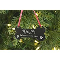 Christma Gift Personalised Paw Prints Santa - Xmas Christmas Tree Decoration Bauble Engraved Gift - L1431 Acrylic