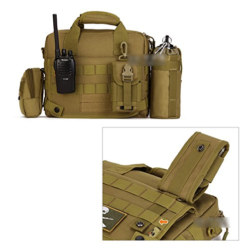 YAAGLE Outdoor Freizeit Schultertasche wasserdicht Herren militärisch 10 zoll Laptoptasche Handtasche IPAD 45 Kuriertasche Tarnung 1