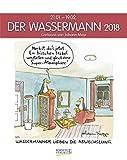Wassermann 2018: Sternzeichenkalender-Cartoonkalender als Wandkalender im Format 19 x 24 cm.