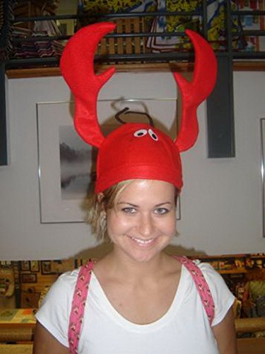 YiyiLai 3D Lobster Halloween Funny Hat Red
