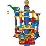 Wader Park Garage Tower, 7 Ebenen, Waschanlage, Tankstelle und Autos, 59 x 77 cm - Spielzeug Parkgarage Parkhaus Spielstrasse Autos