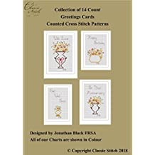 Collection of 14 Count Greetings Cards Cross Stitch Patterns