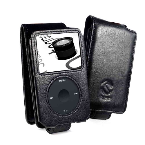 Tuff-Luv (Ipod Classic - 80GB / 120GB / 160GB - 2009 model) Napa Ledertasche - Schwarz