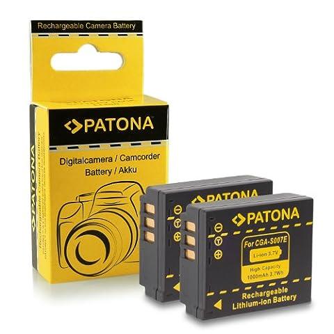 2x Batterie CGA-S007 / CGR-S007 / DMW-BCD10 pour Panasonic Lumix