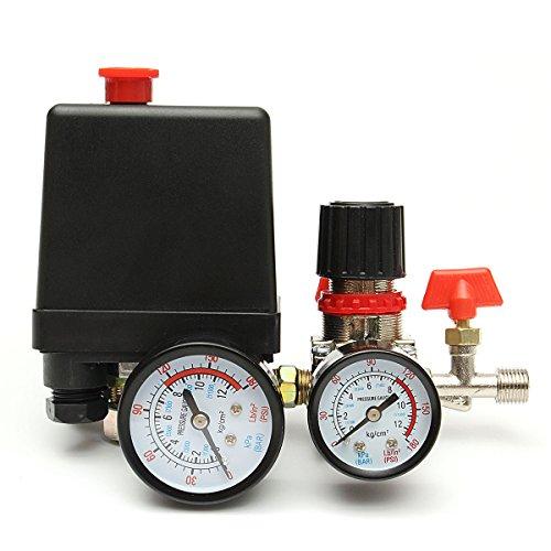 MASUNN 125Psi Compressore Aria Valvola Di Pressione Regolatore Di Regolazione Manometri