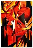 elOleo Franz Marc - Füchse 90x60 Gemälde auf Leinwand handgemalt 88991A