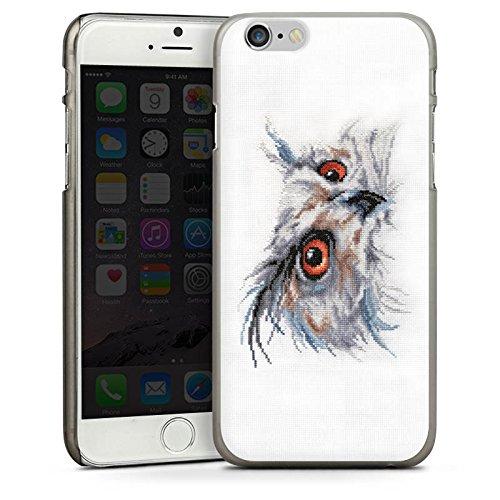 Apple iPhone 5s Housse Étui Protection Coque Hibou Hibou Uhu CasDur anthracite clair