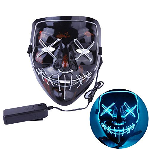 Artbro Scary Halloween LED Light up Maske für Festivel, Cosplay, Kostüm, Thema Parteien Schwarz