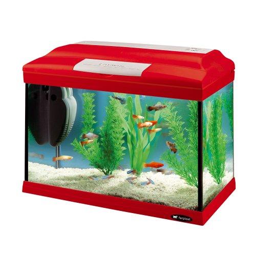 Ferplast 65040070 Cayman 40 Colours Aquarium, 41.5 x 21.5 x 34 cm, 21 L (Anfänger Aquarium Kit)