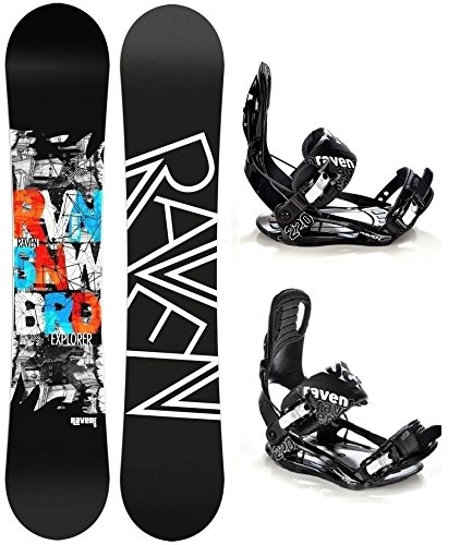 Snowboard Set: Snowboard Raven Explorer Gullwing + Bindung Raven s220 Black L
