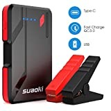 SUAOKI Auto Starthilfe 500A 10800mAh Power Pack Quick Charge 3.0 & USB Powerbank Autobatterie Ladegerät 12V Auto Batterie Pack Booster