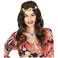 Amazon.it  Coroncina di fiori - Accessori   Costumi e travestimenti ... c6fa468cb8f7