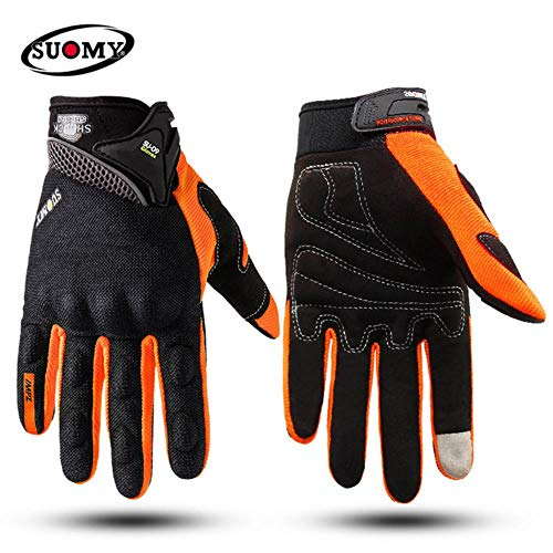 OLDK Suomy Full Finger Breathable Summer Gloves Touch Screen Motorcycle Racing Gloves Men Protective Gears Motocross guantes de Moto,2,XL