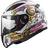 10353J2114S - LS2 FF353J Rapid Mini Crazy Pop Youth Motorcycle Helmet S White Pink