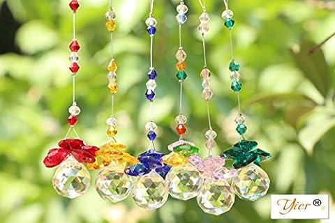 Yier® 20mm Lustre en cristal Prismes fenêtre Rainbowmaker Suncatcher Paquet de 6