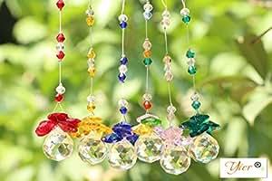 Yier® 20 millimetri lampadario di cristallo prismi Window Maker Arcobaleno Suncatcher Confezione da 6