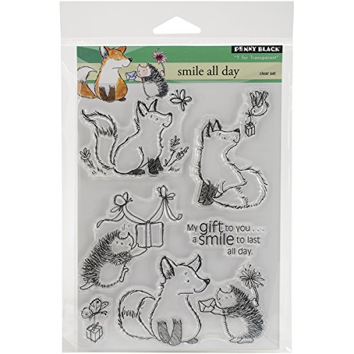 Penny Black Rubber Clear Stamps 12,7 cm x 6,5 Sheet-Smile alle Tag