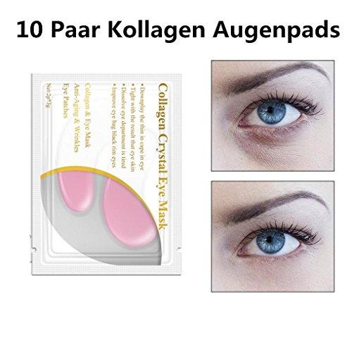 10 Paar Kollagen Augenpads Profi Augen Gel Patch Wirklich Effektiv für Anti-Falten Augenbeutel...