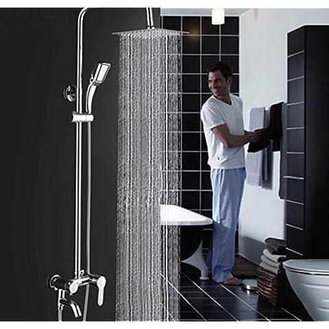 Doccia Kit ottone rubinetto bagno doccia soffione doccia di miscelazione valvola acqua calda e fredda