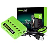 Green Cell® 6 in 1 Caricabatterie per Drone RC Quadrocopter Batteria Li-Polymer...