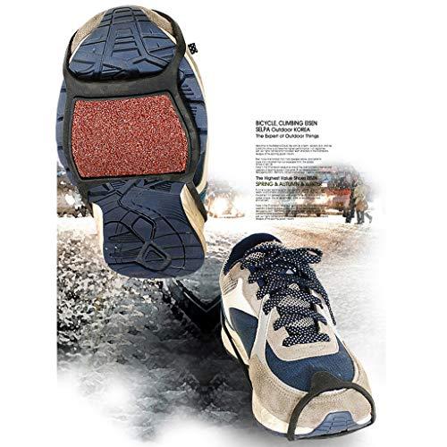 Alecony Steigeisen,Schuhkrallen Anti Rutsch Sohlen Schuhspikes für Walking Wandern Klettern Freien Bergsteigen Winterwandern Eisfischen Schneeschuhe,rutschfeste Überschuhe,Anti-Rutsch Matte Überschuh