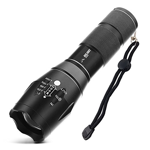 HIILIGHT LED Flashlight Torch 2000 CREE XM-L T6 Zoomable