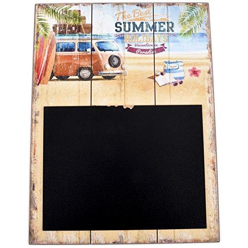 Dadeldo Living & Lifestyle Wandbild Tafel Beach Design MDF 40x30cm bunt Holzschild Deko Trend (Design 1)