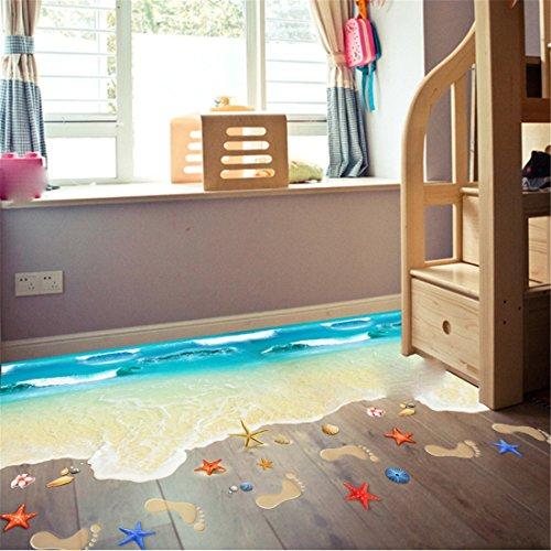 Stazsx Wandtattoos Wandbilder DIY Home Kunst Wand Dekor Decals Schlafzimmer Aufkleber Papier Kinderzimmer Wandaufkleber,3D Strand