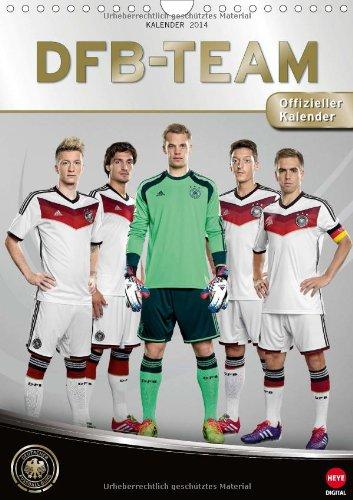 DFB-Team 2014 - offizieller Kalender des DFB (Wandkalender 2014 DIN A4 hoch): Unser Team für die WM 2014 in Brasilien! (Monatskalender, 14 Seiten)