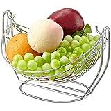 Frutero Acero inoxidable Swing Canasta de frutas Creativo Bandeja de frutas Cesta de desagüe Cesta de la admisión 28 * 23 * 17.5 cm, 33.5 * 28.5 * 22.5 cm , b