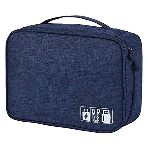 Skryo Elektronisches Zubehör Cable Organizer Bag USB Ladegerät Aufbewahrungskoffer AU (Blau)