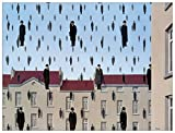 Artopweb Pannelli Decorativi Magritte Golconde Quadro, Legno, Carta, Vernice, 80x1.8x60 cm