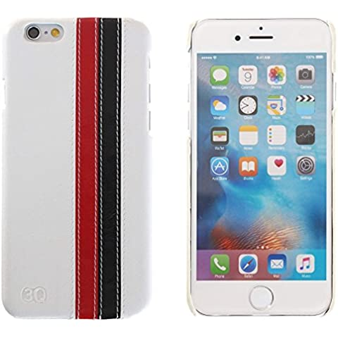 3Q Lujosa Funda Apple iPhone 6S Funda iPhone 6 Carcasa Novedad Mayo 2016 Funda iPhone 6 Carcasa iPhone 6S Top Diseño lujoso exclusivo Suizo Blanco Rojo