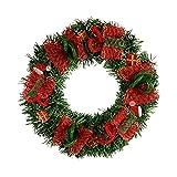Corona de Navidad, grandes artificiales flores Guirnaldas con LED Lámpara häng Extremos Decoración de pared con Red Malla Puerta escaparate 30cm Deco para Navidad