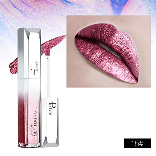 Aktionspreis,Lippenstift,PorLous 2019 Mode Beliebt Neu INS Starry Shine Lip Gloss Wasserfester, Langanhaltender Flüssiger Light Lipstick Wasserdicht 24 Stunden Dauerhaft 6