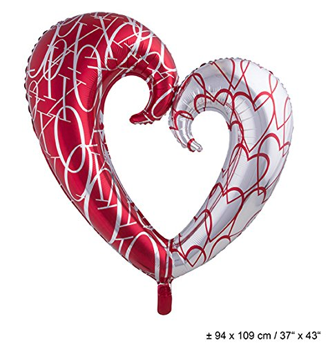 Ballon aluminium coeur 110 cm