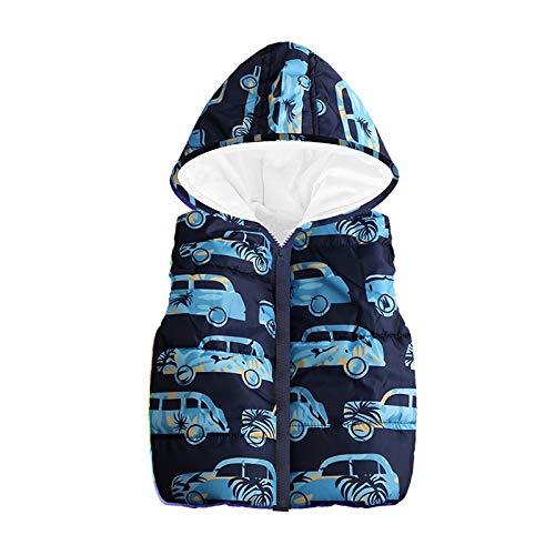 JUSTSELL Langarmshirts Mäntel für Kinder Herbst Winter, Jungs Cartoon Auto Drucken Hoodie Mäntel Reißverschluss Kunstpelz Jacke Outwear Warme Kapuzen Mantel