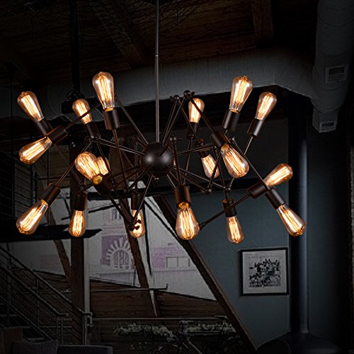 Hauptbeleuchtung Retro restaurant Kleidungsstück bar Edison Amerikanisches creative industries schmiedeeisernen Kronleuchter mit einem Durchmesser von Black Widow Spider 700/800/900 mm 650 mm, 18 (Spider Kostüm Diy)
