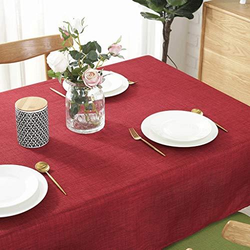 Tovaglie impermeabile a prova di olio colore puro pvc tavolo in lino copritavola soggiorno tavoli ristorante tavolo da pranzo tavolino da caffè uomun (colore : red, dimensioni : 120 * 160cm)