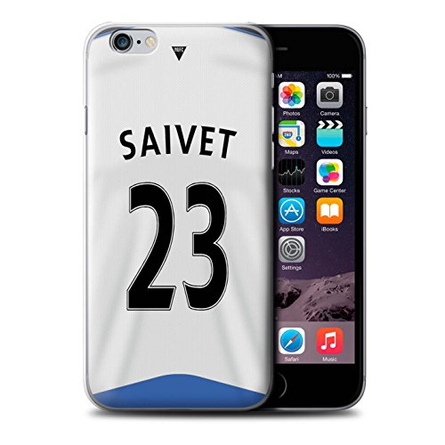 Offiziell Newcastle United FC Hülle / Case für Apple iPhone 6S / Obertan Muster / NUFC Trikot Home 15/16 Kollektion Saivet