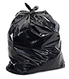 K.T.S Medium:19 inch X 21 inch | 3 Packs of 30 Pcs - 90 Pcs | Disposable Garbage Trash Waste Dustbin Covers & Bags - Black