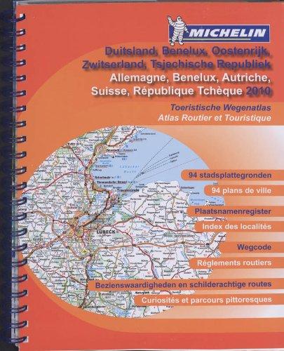 ALLEMAGNE / AUTRICHE / BENELUX / DUITSLAND / OOSTENRIJK 22462 ATLAS MICHELIN 2010