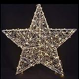 Unbekannt Stern beleuchtet 38 cm 60 LED Timer für Außen/Innen (1034116) Weihnachtsdeko