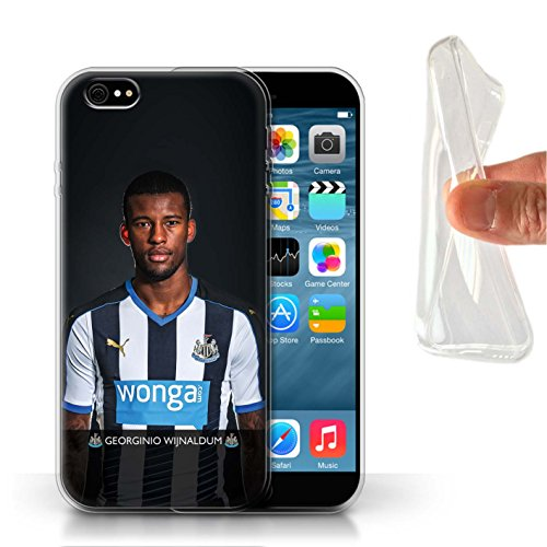 Officiel Newcastle United FC Coque / Etui Gel TPU pour Apple iPhone 6S / Pack 25pcs Design / NUFC Joueur Football 15/16 Collection Wijnaldum
