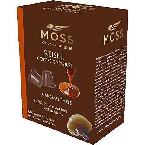 Moss Coffee 10 Cápsulas compatibles Nespresso* con polvo puro de Reishi - CARAMELO