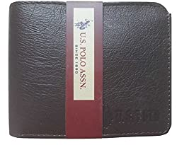 U.S Polo Assn Men Black Genuine Leather Wallet