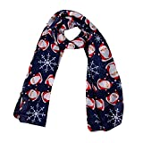 Kaiki 2017 Merry Christmas Women Printed Snowflake Satin-Silk Square Scarf Shawl (B)