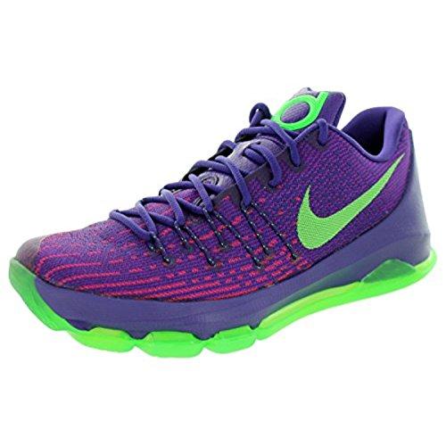Nike Men's KD 8 Crt Prpl/Grn Strk/Vvd Prpl/Brg Basketball Shoe 11 Men US
