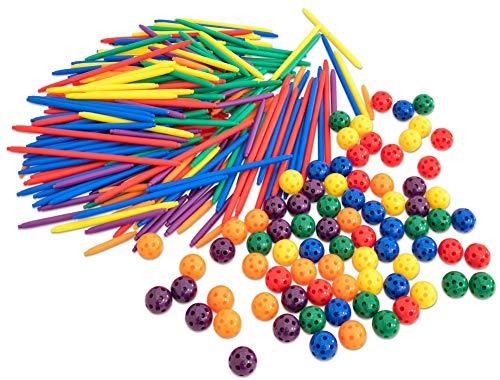 Betzold  87071 Stick und Ball Geometrie Kit, 250 Stöcke, 80 Kugeln, mehrfarbig